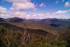 (L-R) Haystack, Gothics, Sawteeth (fore), Giant & RPR (rear), Colvin Range, Dix Range