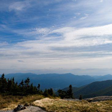 Cascade vista: East to Hurricane and Jay Mts.