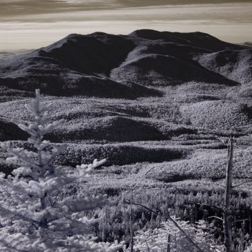 Panther Peak and Santanoni from Seymour (infrared)