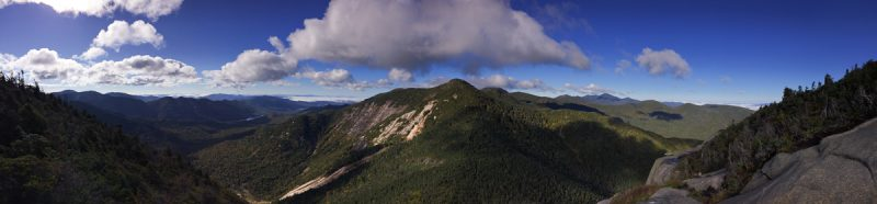 Saddleback panorama (Basin Mt., center)