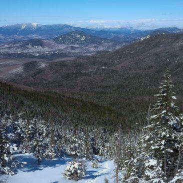 Santanoni (left) and Seward (center) ranges from Allen slide