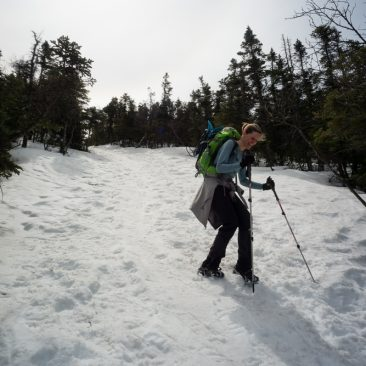 Kathy descending Algonquin