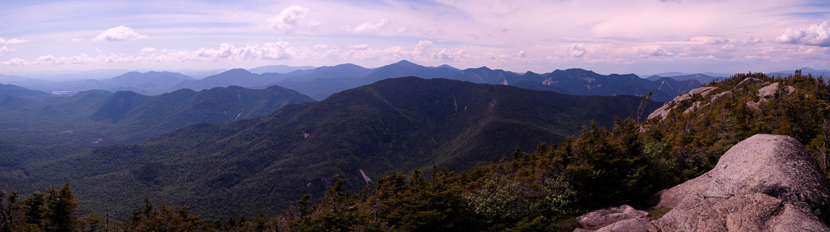 Pano from Dix: Allen, Colvin Range, Great Range, etc. (Whiteface far right)