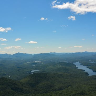 View from Whiteface; Lake Placid, right