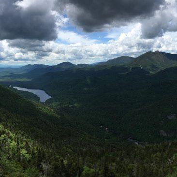 Blake (left), Upper Ausable Lake, Allen, Skylight, Upper Great Range